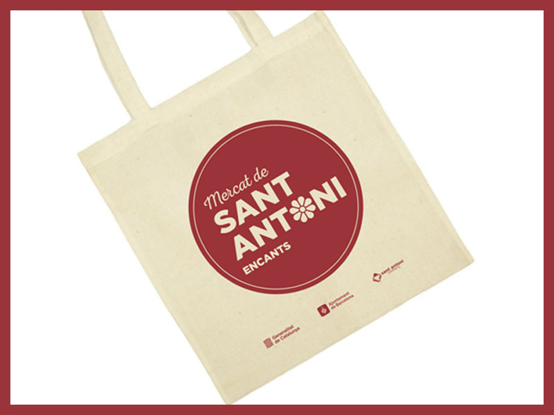 Consigue la bolsa exclusiva del Mercat de Sant Antoni!